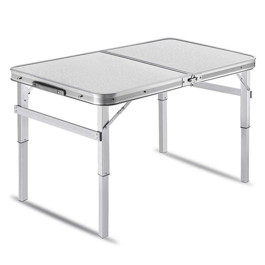 FRF 折りたたみ式テーブル- 屋外ポータブルアルミ折りたたみテーブル、ピクニックバーベキューテーブル (色 : シルバー しるば゜, サイズ さいず : 90x60x34cm) 90x60x34cm シルバー しるば゜ B07MJZZ5JB