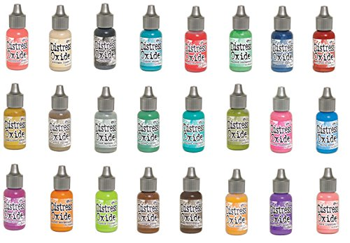 Tim Holtz and Ranger Distress Oxide Ink - Complete Set of 24 Reinkers (ink pads sold separately) by Ranger