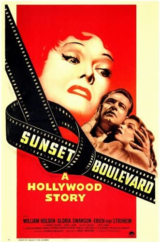 Image result for sunset boulevard poster