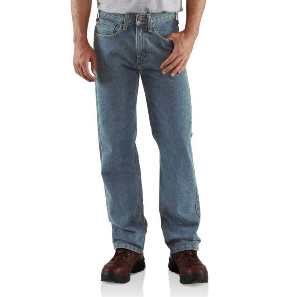 Carhartt Men's Relaxed Straight Denim Five Pocket Jean,Light Vintage Blue,36 x 32