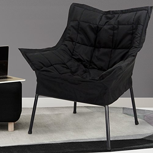Casual Home Milano Metal Chair Black Metal Frame With