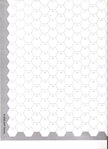 GMT: Seven (7) Pack of Blank Hex Maps with 19mm (~5/8