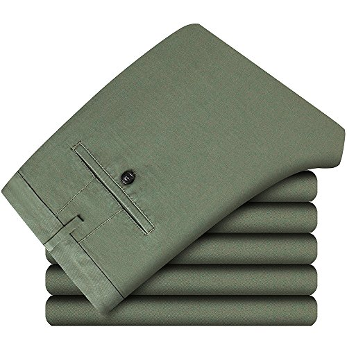 Casual Tinta Stile Straight Pantaloni Unita Cui Scegliere Verde Tra Colori Più Per E Chino Militare Uomo Fit qR0SxdwBx