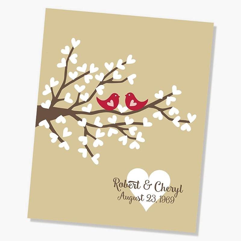 Blue Birds Wedding Announcement Printable Country Birds on a Tree Love Birds Custom Printable Card Save the Date Card