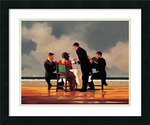 (Framed Wall Art Print | Home Wall Decor Art Prints | Elegy for a Dead Admiral by Jack Vettriano | Modern Contemporary Decor)