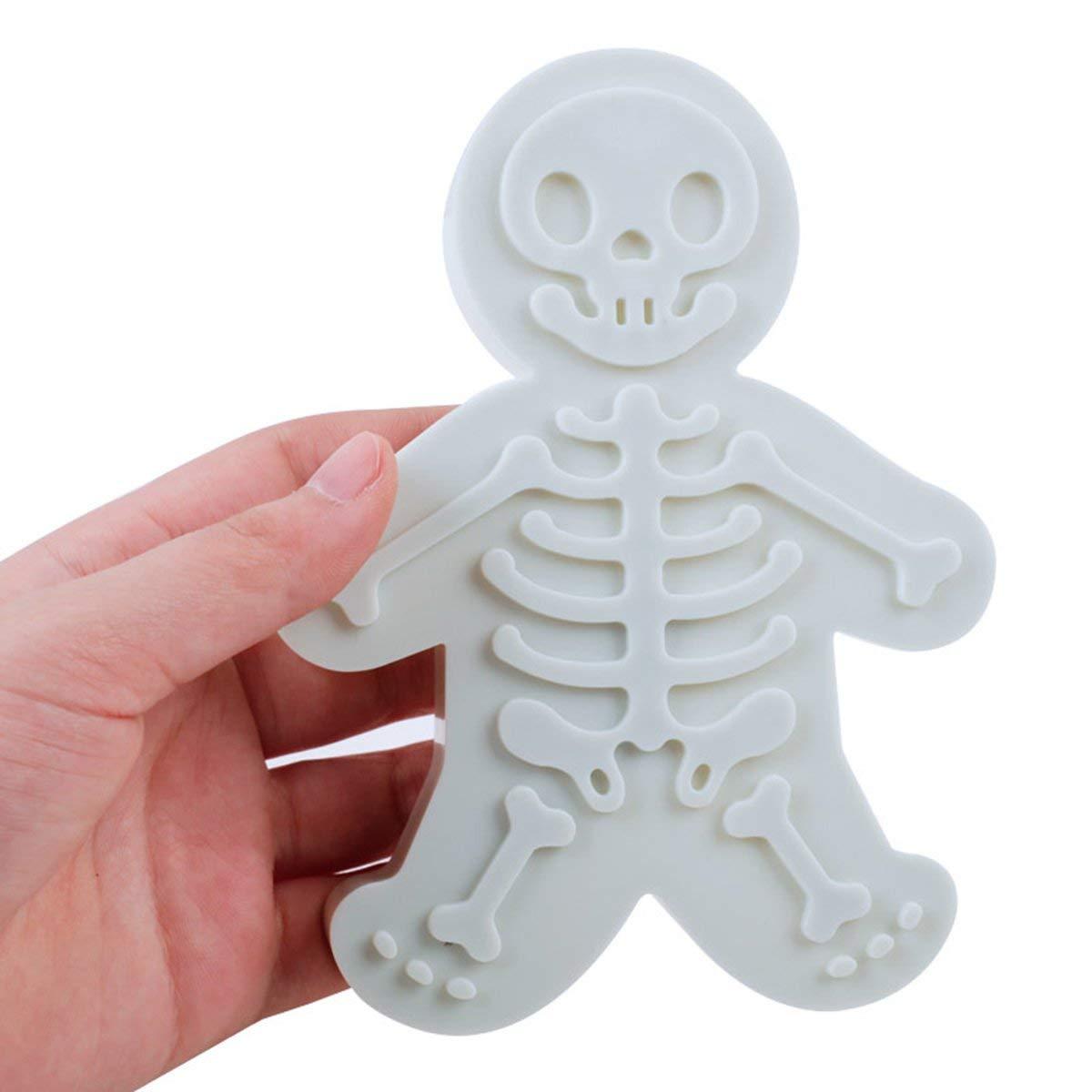 Gugutogo C2512 Skeleton Gingerbread Man Biscuit Die DIY Herramienta de Cocina Presi/ón Fabricante de Galletas Molde para Hornear Herramientas para Hornear