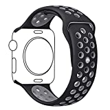 OROBAY Soft Silicone Replacement iWatch Band 42mm for Apple Watch Series 2, Series 1, Wristband Strap for iWatch Sports Edition