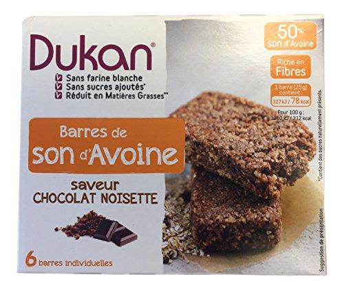 Dukan Diet Oat Bran barres au chocolat noisette, 4,4 oz