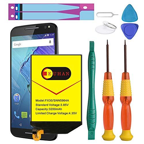 Moto X Pure Battery, Euhan 3200mAh Rechargeable Li-Polymer Battery FX30 SNN5964A Replacement for Motorola Moto X Pure Edition XT1572 XT1575 Style+Repair Replacement Kit Tools (Batteries Rechargeable Pure)