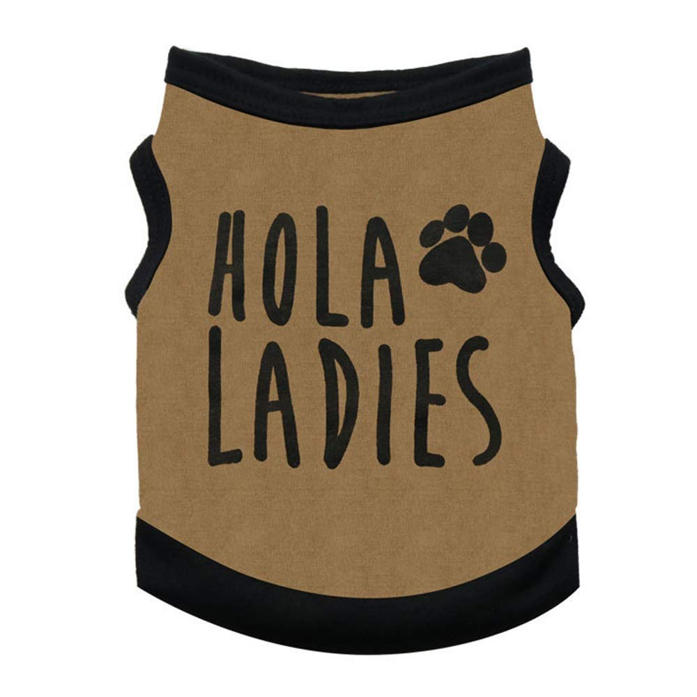 Brown L Brown L Huayue Fashion Dog Vest Clothes Spring and Summer Lean Pet Two-Legged Clothes Modest Dog Puppies (color   Brown, Size   L)