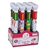 Raymond Geddes The Elf on The Shelf Pens with Stampers, 6 Color, Set of 12 (69856)