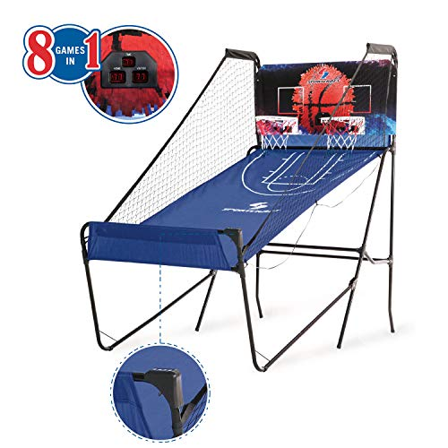 Sportcraft Quick Set-Up Basketball Arcade 8 Game Modes, 2-Players, Setup Less Than 10 Mins, No Tools Required, Heavy Duty 1