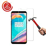[2-Pack] OnePlus 5T Screen Protector, Auideas Tempered Glass Screen Protector [0.25mm, 3D] [9H Hardness] [Crystal Clear] [Bubble Free] for OnePlus 5T