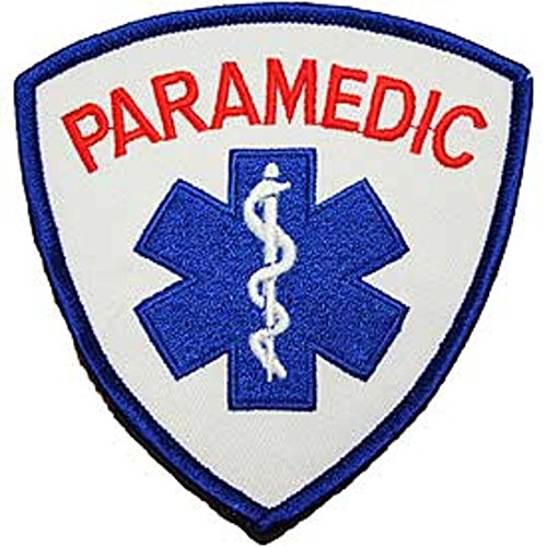 amazon com paramedic logo patch red white 3 5 8 rh amazon com paramedic logo vector paramedic logo uk