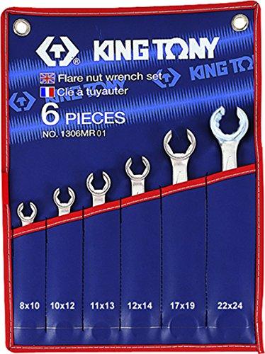 King T. 1306MR01 Kit di chiavi a brugola metriche, Set da 6