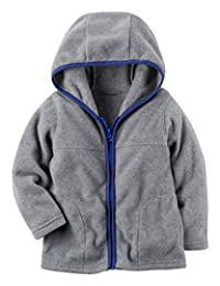 Carter's Boys' Classic Navy Fleece Zip-Up Hoodie with Pockets