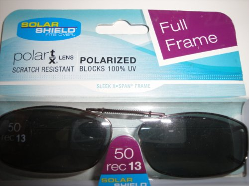 Solar Shield 50 Rec 13 Full Frame Gray Polarized Clip on Sunglasses