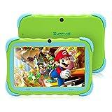 Surfans Kids Tablet, 2 GB RAM 16 GB ROM, pantalla IPS HD de 7 pulgadas, cámara WiFi y a prueba de niños, tableta Android para niños pequeños