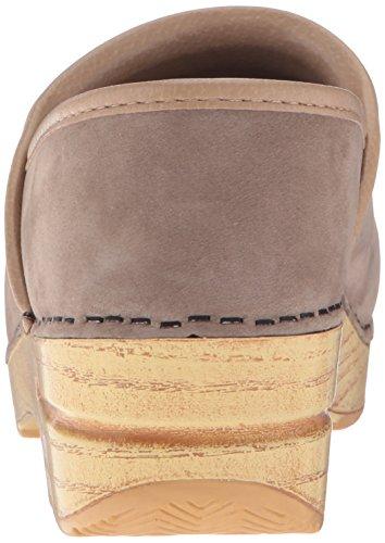 Women's Taupe Professional Dansko Milled Mule Nubuck xYq8xT1w