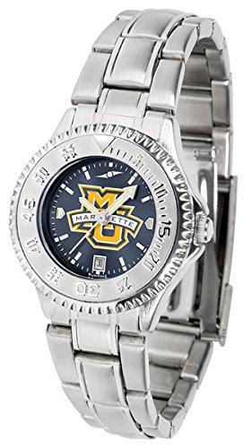Golden Eagles Sport Steel Watch - Marquette Golden Eagles Competitor Steel AnoChrome Women's Watch