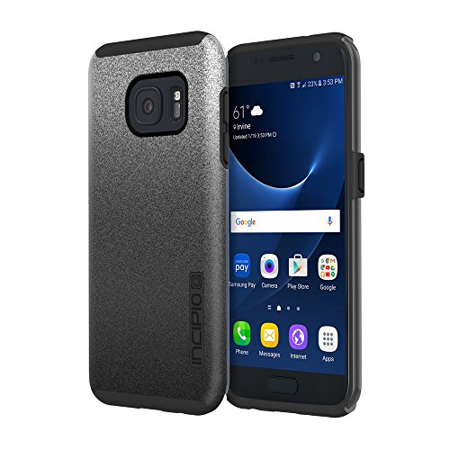 Samsung Galaxy S7 case, Incipio DualPro Glitter, [Design Series] Shock-Absorbing Impact-Reistant Dual-Layer Cover - Black