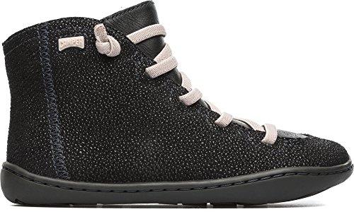 Camper Kids Girls' Peu Cami 90085 Sneaker, Black, 36 EU/4 M US Big Kid
