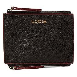 Lodis Kate Frances Double Zip Pouch Key Coin Purse, Black, One Size