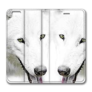 iPhone 6 Leather Case, Personalized Protective Flip Case Cover Wolf 6 for New iPhone 6