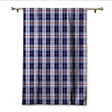 Best Eclipse Home Fashion Thermal Insulated Blackout Curtains Royal Blues - homehot Checkered Thermal Insulated Blackout Curtains Classical Vintage Review