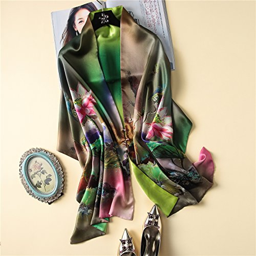 National style silk scarves, cheongsam shawls, high-end mulberry silk by KYXXLD