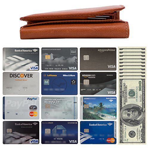 ID Mens Real Capacity with Organizer Window Leather Honey Divider by made Card in Cowhide Perotti Tony Currency Slots Double Wallet Leather Multi Italian Holder Large Gusset Tri Traditional and Fold rHwrqYB