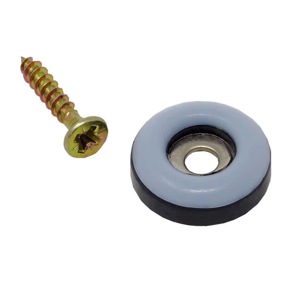 SBS Schlö sser Baustoffe - Protector de tefló n para atornillar a muebles (16 unidades, 19 mm de diá metro, 5 mm de grosor) 19 mm de diámetro 5mm de grosor) SBS - Schlößer Baustoffe