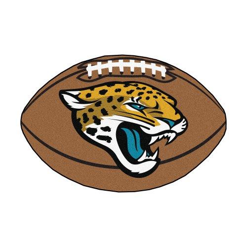 Fanmats Jacksonville Jaguars Football (FANMATS NFL Jacksonville Jaguars Nylon Face Football Rug)
