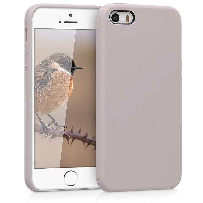kwmobile Apple iPhone SE / 5 / 5S Hülle - Handyhülle für Apple iPhone SE / 5 / 5S - Handy Case in Helltaupe