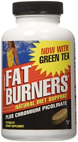 Weider Dynamic Fat Burners | Chromium Picolinate | Green Tea Extract | Cinnamon Powder | Cayenne Powder | 30 Day Supply