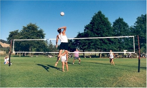 Cobra guy wire free 3-in-1 game volleyball, beach tennis & badminton net system. by Cobra Sports