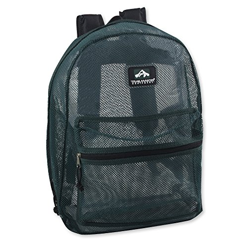 Trailmaker Classic 17 Inch Mesh Backpack with Reinforced Straps (Green)