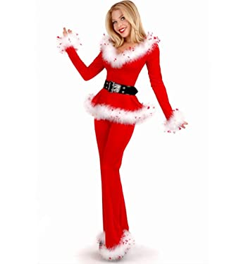 Womenu0027s Red Mrs Santa ClausSexy Christmas Costumes Red Fur Splicing Decorative Sets  sc 1 st  Amazon.com & Amazon.com: Womenu0027s Red Mrs Santa ClausSexy Christmas Costumes Red ...