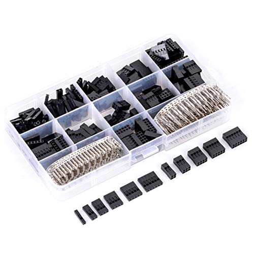 F-pin Connector Crimp (620pcs Wire Jumper Pin Header Connector Housing Kit + M/F Crimp Pins)