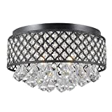 Candice 4-light Antique Black Flush Mount Chandelier Review