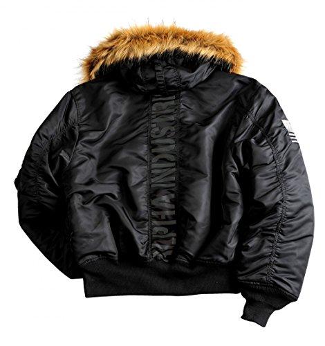 invierno con BL Custom negro Alpha Chaqueta capucha 45P Industries tWqTY