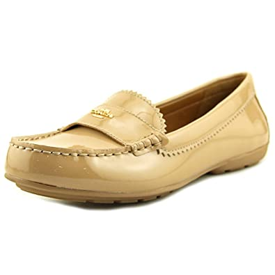 Coach Womens Odette Leather Almond Toe Loafers, Tan, Size 6.0