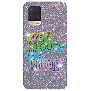 Unaxo Don't Toch My Phone Design Printed Back Cover for Oppo A54 / CPH2239,Back Case for Oppo A54 / CPH2239
