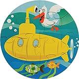 Yellow Submarine Round Puzzle - Made in USA