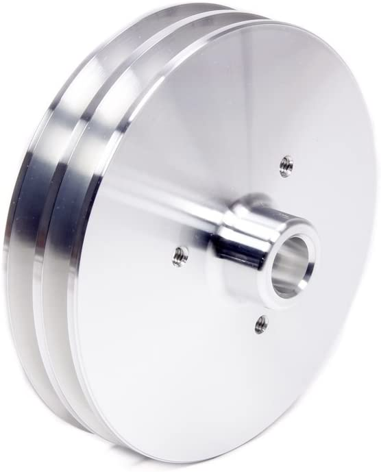 March Performance 522 Clear Powdercoat Aluminum 2-Groove Power Steering Pulley