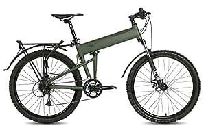 "Montague Paratrooper MTB 18"" Cammy Green 24 Speed Folding Mountain Bike"