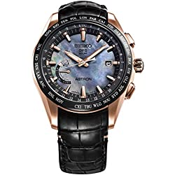 Mens Seiko Astron GPS Solar World Time Rose Gold Titanium LIMITED EDITION Watch SSE105 Novak Djokovic Limited Edition