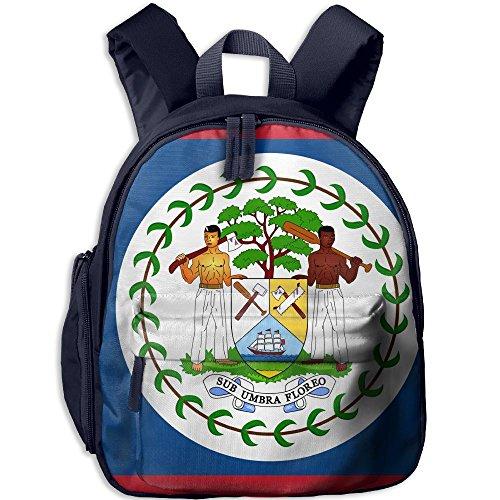 Fengyaojianzhu Flag Of Belize Cute School Book Bag Travel Student Backpack For Children Kids Girls ()