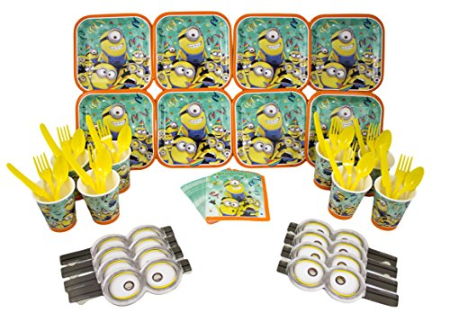 Minions Dessert Party Set for 8 Guests with Goggles (Minions Dessert)