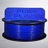 Push Plastic 1.75mm Blue PLA 3D printer filament 1kg (2.2 lbs) USA MADE